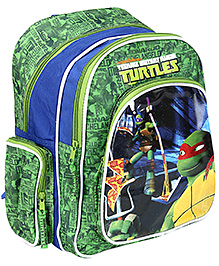 Ninja Turtle School Bag Green And Blue - 14 Inches