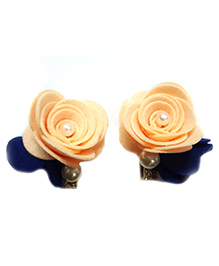 Reyas Accessories Rose Design Hair Clip - Peach