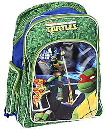 Ninja Turtle School Bag Green And Blue - 18 Inches