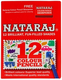 Color Pencils Set 12 brilliant color pencils set with free Nataraj sharpener