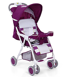 Baby Stroller With Ventilated Canopy - Purple