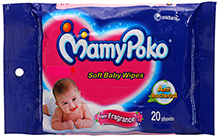 Mamy Poko Baby Wipes 20 pieces Clean and care for your baby's delicate skin