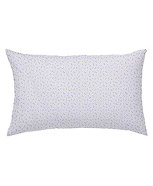 The Baby Atelier Organic Cotton Baby Pillow Cover With Filler - Purple Bows