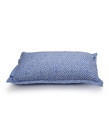 The Baby Atelier Organic Cotton Spots Baby Pillow Cover With Filler - Purple & White