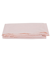 The Baby Atelier Organic Cotton Solid Flat Sheet Regular Single - Light Pink