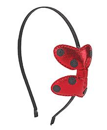 Treasure Trove Polka Dot Bow Hair Band - Red