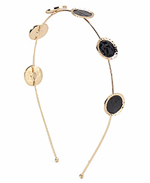Treasure Trove Trendy Hair Band - Black & Gold