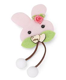 Treasure Trove Cute Bunny Hair Clip - Baby Pink