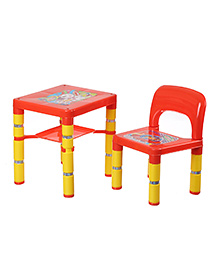 NHR Portable Learning Kids Table & Chair Set - Red