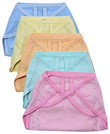 Tinycare Baby Nappy Multicolor Large - Set of 5