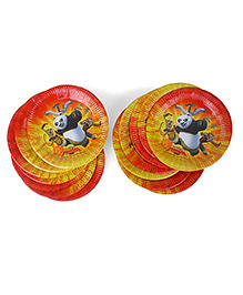Kung Fu Panda Paper Snack Plates Red - Pack Of 20