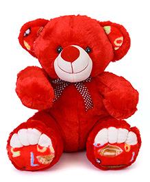 Liviya Teddy Bear Soft Toy Red - Height 34 Cm