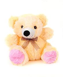 Liviya Sitting Teddy Bear Soft Toy Cream Pink - Height 28 Cm