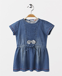 DKL Short Sleeves Denim Dress - Blue
