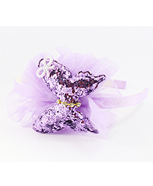 Pihoo Hair Band Butterfly Applique - Purple