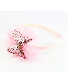 Pihoo Hair Band Butterfly Applique - Light Pink