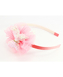 Pihoo Hair Band Butterfly Applique - Peach