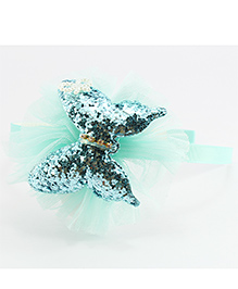 Pihoo Hair Band Butterfly Applique - Blue