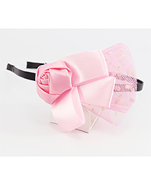 Pihoo Hair Band Rose Applique - Light Pink