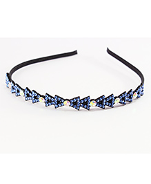 Pihoo Hair Band Crystal Stone Design - Blue