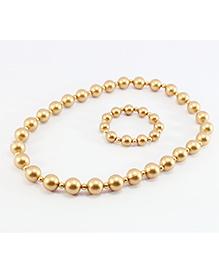 Pihoo Necklace & Bracelet Combo - Golden