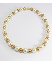 Pihoo Girl's Necklace - Off White & Golden