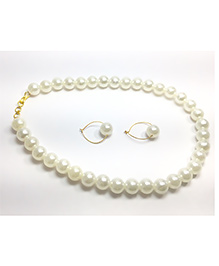 Pihoo Necklace With Earrings - Off White