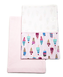 HouseThis The Sweet Summer Pure Cotton Set Of 2 Bed Sheet - Pink