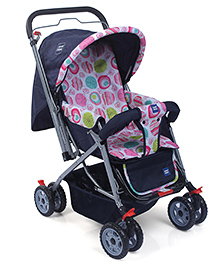 Mee Mee Baby Stroller Cum Pram With Bumper Bar - Navy Blue