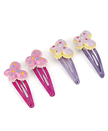 Stol'n Snap Hair Clips Pack Of 4 (Color May Vary)