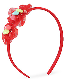 Stol'n Hair Band Floral Design - Red