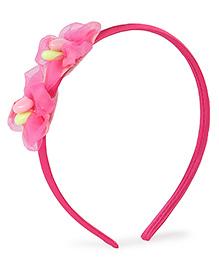 Stol'n Hair Band Floral Design - Dark Pink