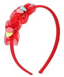 Stol'n Hair Band Floral Design - Coral Red
