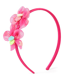 Stol'n Hair Band Floral Design - Fuchsia