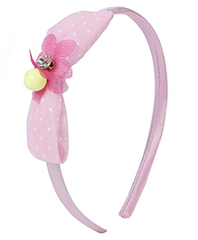 Stol'n Hair Band Dotted Bow Design (Colour May Vary)