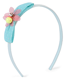 Stol'n Hair Band Dotted Bow Design - Light Blue