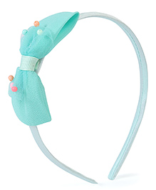 Stol'n Hair Band With Designer Bow Applique - Light Blue