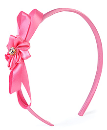 Stol'n Hair Band With Design Floral Applique - Pink