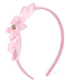 Stol'n Hair Band With Design Floral Applique - Light Pink