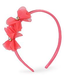Stol'n Hair Band Floral Applique - Peach