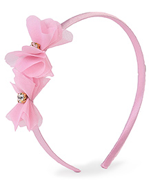 Stol'n Hair Band Floral Applique - Baby Pink