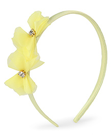 Stol'n Hair Band Floral Applique - Yellow