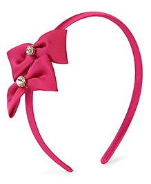 Stol'n Hair Band Bow Applique - Dark Pink