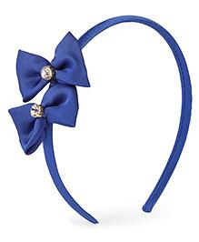 Stol'n Hair Band Bow Applique - Blue