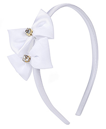 Stol'n Hair Band Bow Applique - White