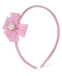 Stol'n Hair Band Sequined Bow Applique - Light Pink