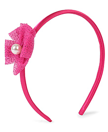Stol'n Hair Band Sequined Bow Applique - Pink