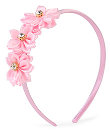 Stol'n Hair Band Floral Applique - Pink