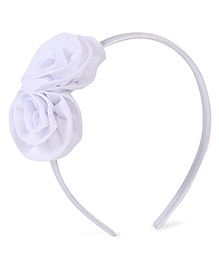 Stol'n Hair Band Rosette Applique - White