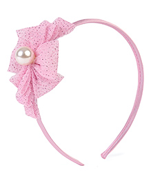 Stol'n Hair Band Bow Applique - Baby Pink